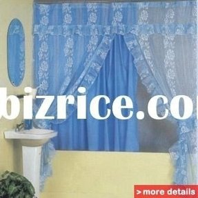 Fabric Shower Curtains With Matching Window