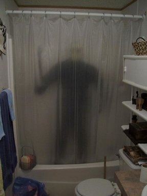 Funny shower curtain 1