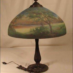 Peacock Blue STANDARD LILY LAMP SHADE Art Nouveau Iridescent Glass Sconce Light