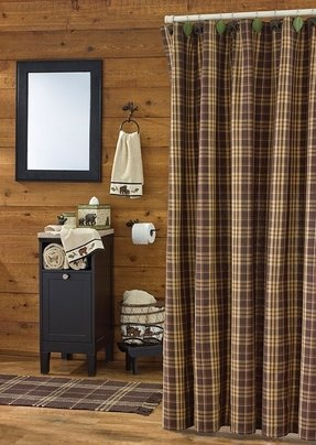 Lodge rustic shower curtain 1