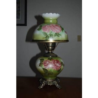 Replacement shades for antique lamps hand painted glass please