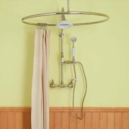 Attirant Round Shower Curtain Rods