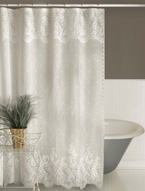 New Sheer Fabric Shower Curtain
