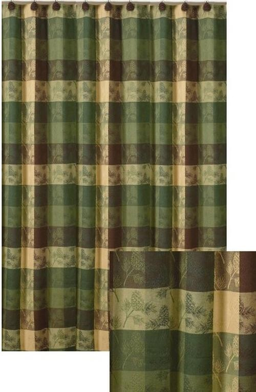 Shower Curtain Pine Ridge Shower Curtain This Rustic Pine Cone