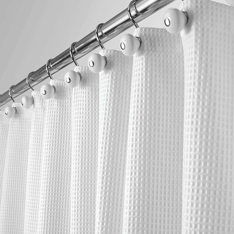 Spa Waffle Fabric Shower Curtain - Foter