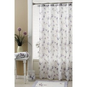 Stall Size Polyester Fabric Shower Curtain Liner Weighted 2