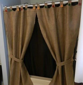 Tab Shower Curtain Or Window Panels 2 By Craftyamour Burlap