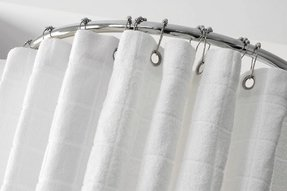 Terry cloth shower curtain 1
