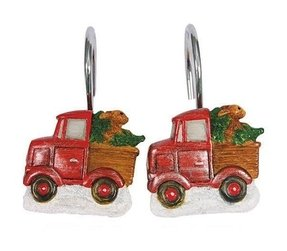 Truckin with Santa Shower Curtain Hooks