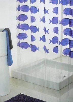 Vinyl Fish Shower Curtain 3
