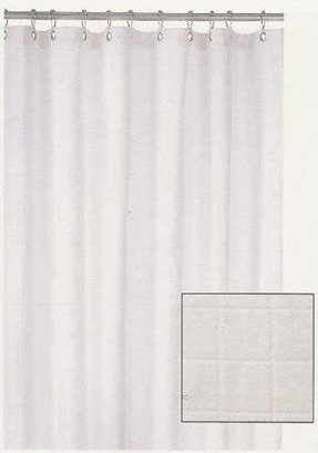 White Terry Cloth Shower Curtain Bathroom Decor