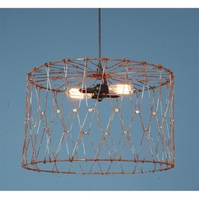 Aged metal cage drum shade pendant large lamp shades 1