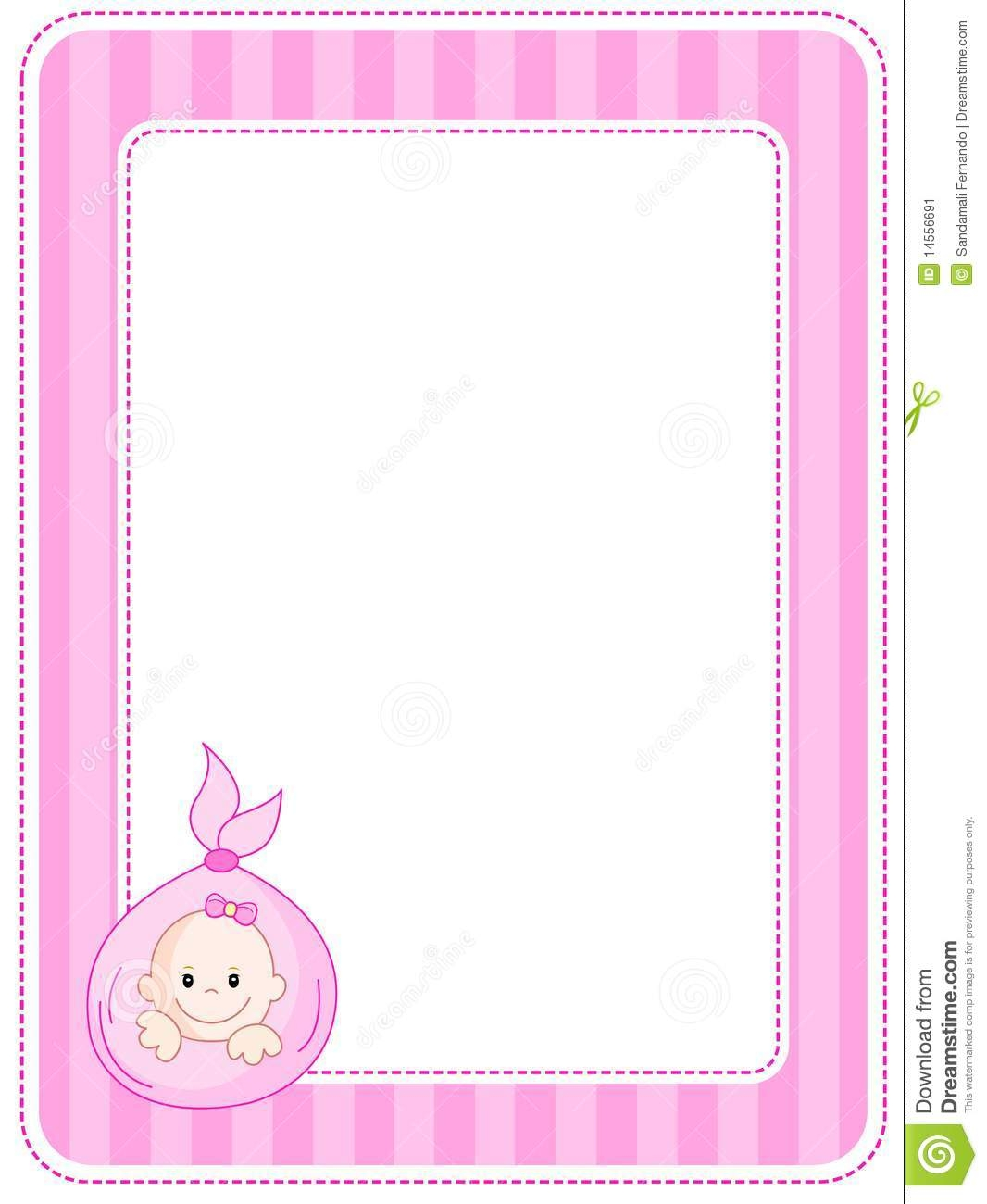 graphic about Free Printable Baby Shower Borders called Child Shower Border Paper - Plans upon Foter