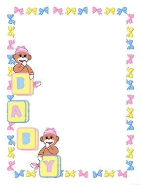 Hilaire image for free printable baby borders for paper