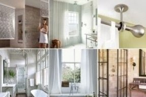 Bathroom Window Shower Curtains