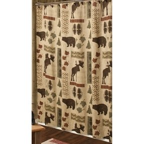 Moose Bear Shower Curtain Ideas On Foter