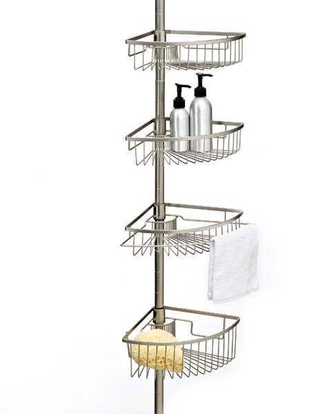 Superieur Brushed Nickel Shower Caddy Tension Pole