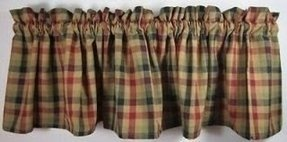 Country plaid curtains in curtains drapes valances