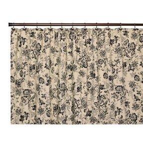 Ellis Curtain Palmer Floral Toile Shower In Black 523693