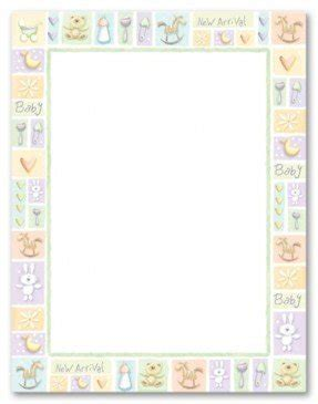 image relating to Free Printable Baby Borders for Paper known as totally free printable child borders -