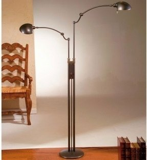 Holtkotter dual light reading floor lamp