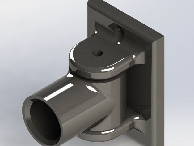Pivoting Shower Curtain Rod Bracket