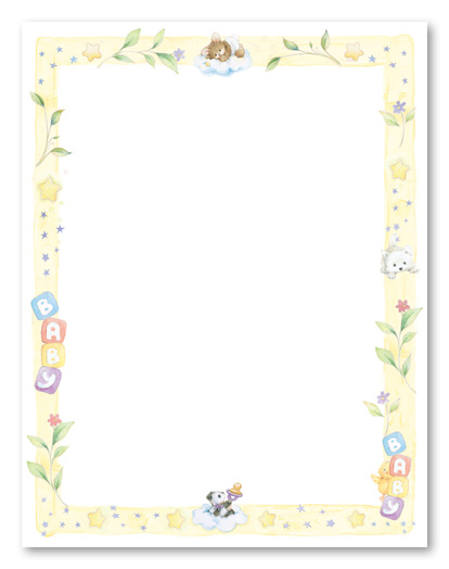 Awesome Printable Baby Shower Border Paper Pictures 2