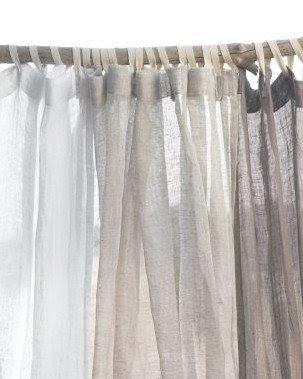 Charmant Sheer Fabric Shower Curtain 4