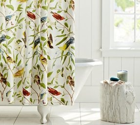 Shower Curtains Birds 1