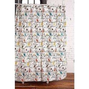 Shower Curtains Birds 4