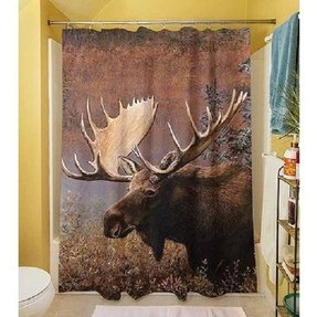 Thumbprintz Moose Shower Curtain 71 X 74