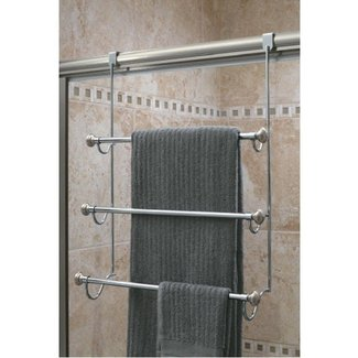 Towel racks over the door towel racks interdesign over the