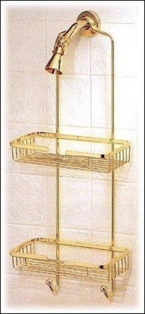 Polished Brass Shower Caddy - Foter