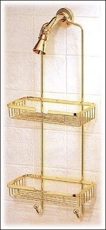 Polished Brass Shower Caddy   Foter
