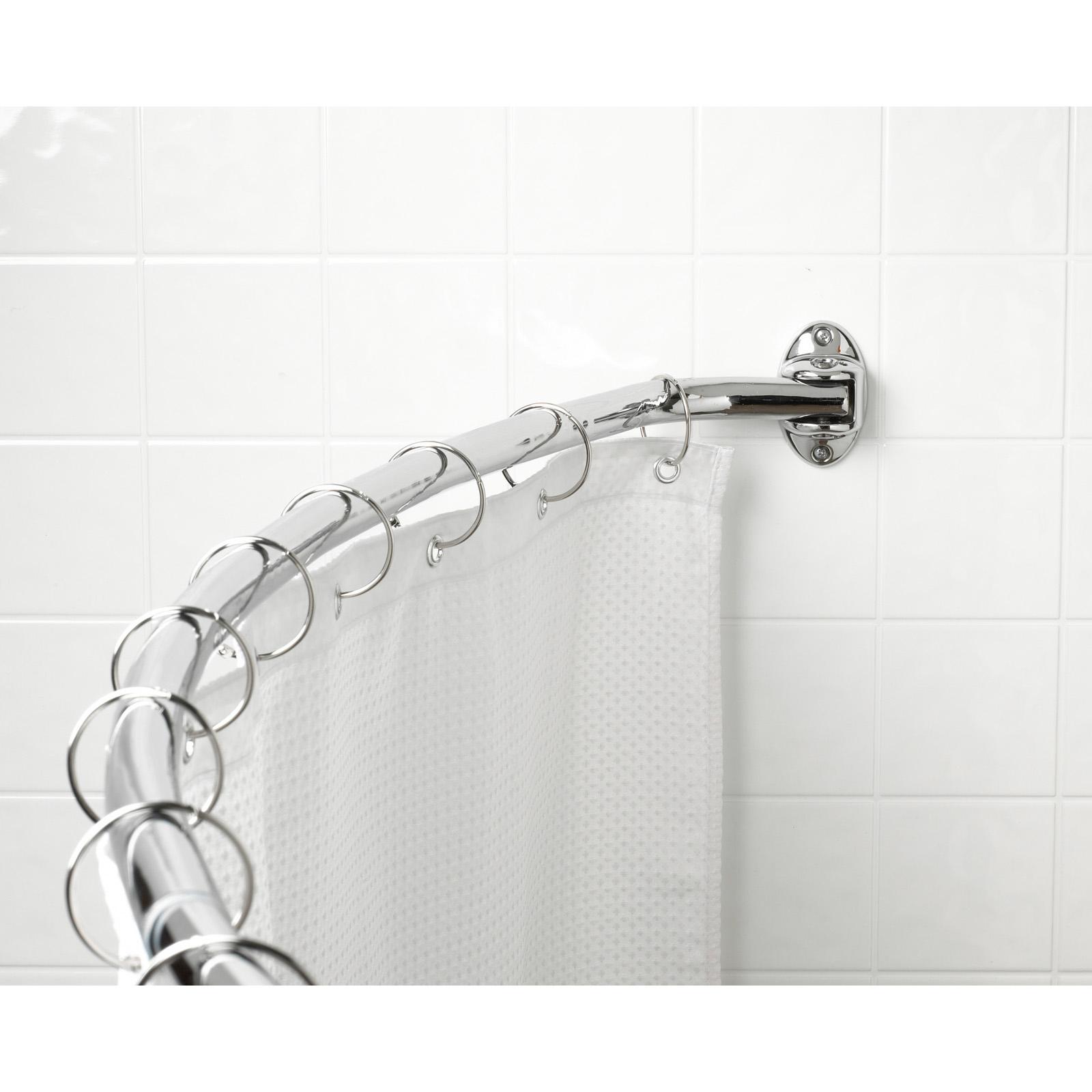 shower curtain rod holder set nylon