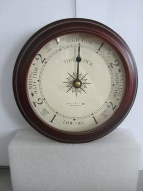 "6"" Cherry Tide Clock by West and Company"