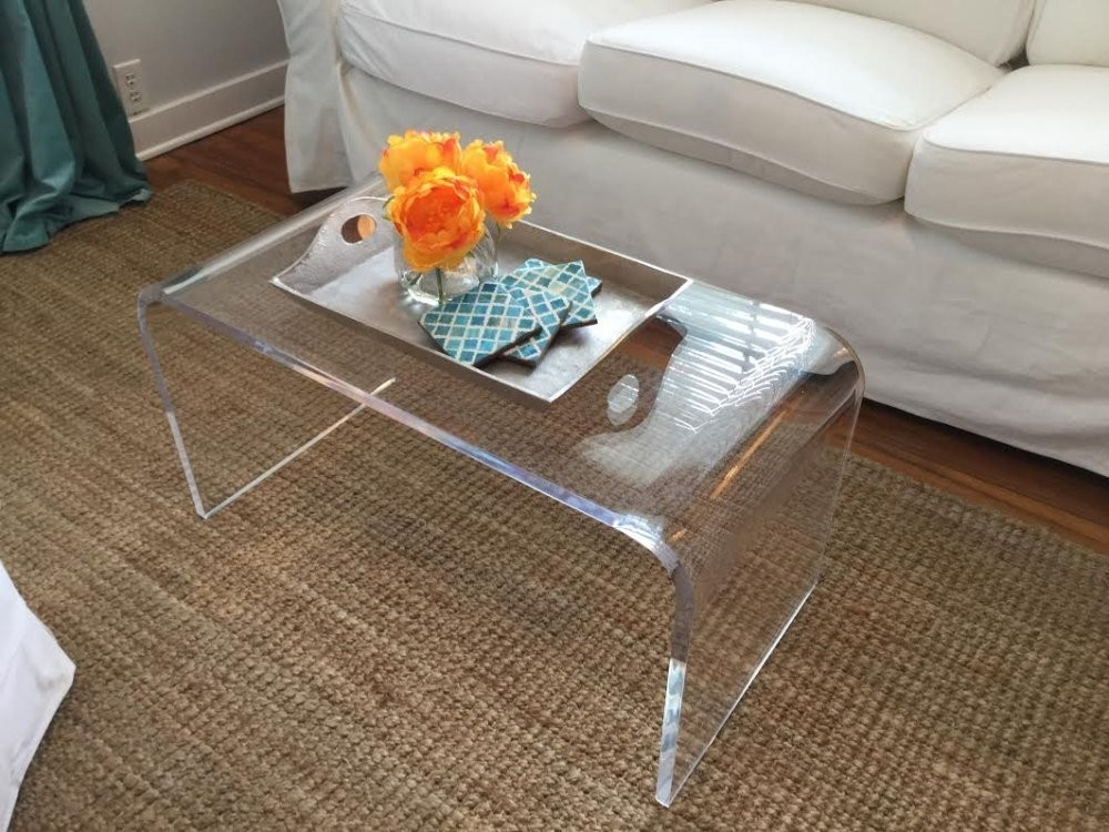 Exceptionnel Acrylic Coffee Table 32 X 16 X 16 X 3/4 Premium Domestic Material