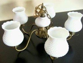 Milk glass chandelier foter antique hobnail milk glass chandelier in antiques ebay aloadofball Choice Image