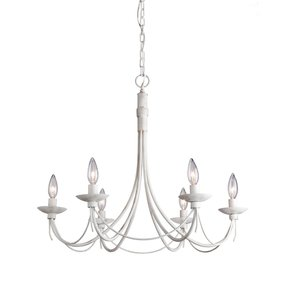 Antique white wrought iron chandelier foter antique white wrought iron chandelier 10 aloadofball Images