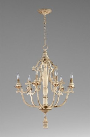 Antique white wrought iron chandelier foter antique white wrought iron chandelier 8 aloadofball Images