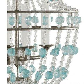 Aqua chandelier foter aqua blue sea glass chandelier 1 aloadofball Images