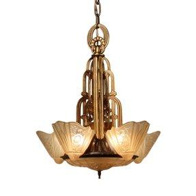 Art deco slip shade chandelier foter art deco slip shade chandelier 31 aloadofball Gallery