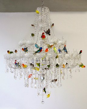 Birds nest chandelier