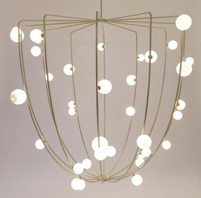 Cage chandelier foter cage chandelier 3 aloadofball Choice Image