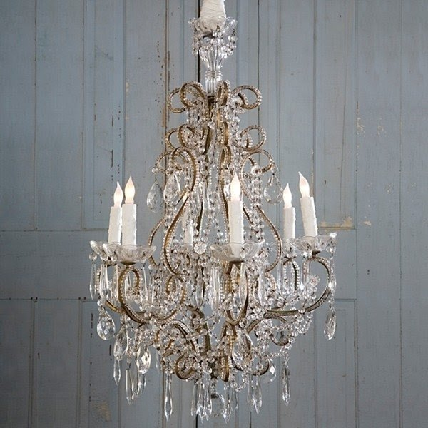 Candle holder chandelier shabby chic