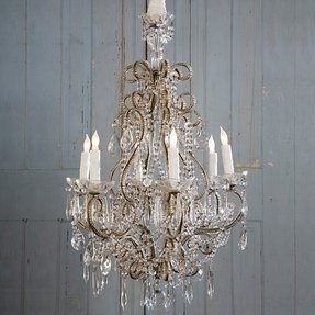 Shabby chic candle chandelier foter candle holder chandelier shabby chic aloadofball Images
