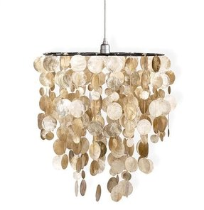 Capiz shell chandelier 1