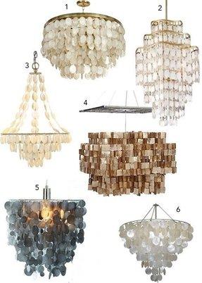capiz shell chandelier foter