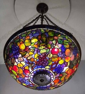 Tiffany stained glass chandelier foter chandelier stained glass aloadofball Choice Image