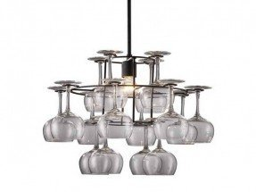 Cool lighting wine glass chandelier